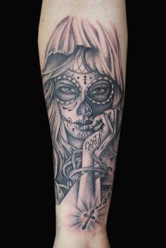 Day of the Dead Tattoo by Kade Mack - artist at Kaleidoscope Tattoo Studio in Bondi, Sydney
