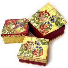 Punch Studio #54126 Christmas Nesting Decorative Gift Boxes, Set of 3, Ornaments with Gold Foil Embellishment Punch Studio http://www.amazon.com/dp/B00AFCL1GU/ref=cm_sw_r_pi_dp_mS-0tb09Q6QYW87H