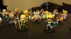 Arcadia Quest heroes painted by Wendy Getz
