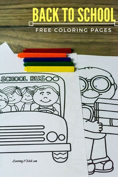 Kids nervous about going back to school? Enjoy these back to school free coloring page set to help your kids transition to their new school year. Fun Activities For Preschoolers, Fine Motor Activities For Kids, Back To School Activities, Free Preschool, Preschool Printables, Preschool Worksheets, Preschool Learning, Learning Centers, Preschool Ideas