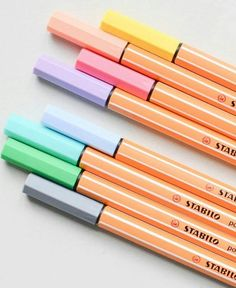 How much we love these colors! These classic Stabilo color pens will never be out of fashion. Being one of the basic gadgets of a stationery enthusiast, their fiber tip and liquid ink of endless colors simply cannot disappoint. »»»» Find them in our online store and enjoy FREE worldwide delivery on all orders.