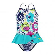 Maillot une-pièce à jupette et à appliqué fleurs Baby Girl Swimsuit, Kids Girls, Baby Girls, Niece And Nephew, Cute Little Girls, Swimsuits, Swimwear, Toddler Outfits, Mini