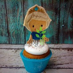 Elsie Cupcake Topper ONLY ITH Embroidery Design