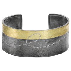 TRDB405    18ky gold and sterling silver with patina, and white brilliant cut daimonds (.532 ctw)