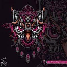 Owl head in futuristic mecha style with mandala pattern as the ornament background Owl Head, Owl Illustration, Mandala Pattern, Stage Design, Mosaic Art, Futuristic, Owls, Watercolour, Ornament