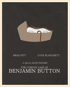 The Curious Case of Benjamin Button (2008) - Minimal Movie Poster by Jon Glanville ~ #jonglanville #minimalmovieposters #alternativemovieposters