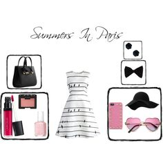 Summers In Paris by tgray2020 on Polyvore featuring Chicwish, Dolce&Gabbana, Valentino, PINK BOW, MANGO, NARS Cosmetics, Laura Geller and Essie