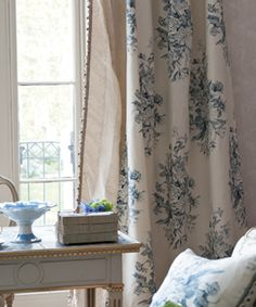 via Designers Guild. Interior, Fabric, Home Decor, Inspiration, Designers Guild, The Royal Collection, Blue And White