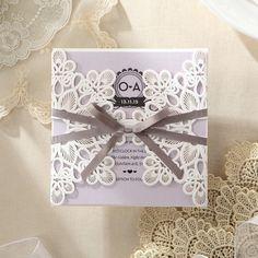 Elagant Laser Cut Wrap Wedding Invitation by GiantInvitations
