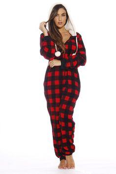 Amazon.com: Just Love Plaid Adult Onesie / Pajamas / Onesies: Clothing
