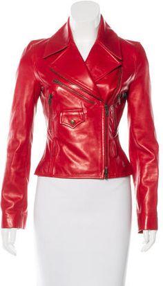 Céline Leather Moto Jacket
