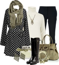 """Polka Dot Trench"" by stylesbyjoey ❤ liked on Polyvore"