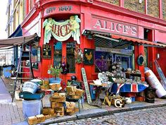 Photographic Print: Alice's Antiques, Portobello Road in Notting Hill, London by Anna Siena : Portobello, Notting Hill London, London City, London Poster, Frames For Canvas Paintings, Antique Shops, Vintage Stores, Vintage Antiques, Affordable Wall Art