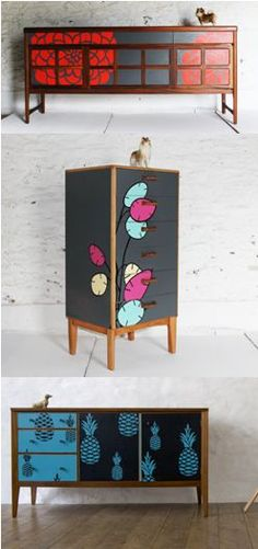 Lucy Turner (www.lucyturner.co), England-based furniture and surface designer and owner of Higher Market Studio, specialzies in customizing and transforming mid-century furniture with the clever use of laser-cut Formica® Laminate, and the end result is stunning.