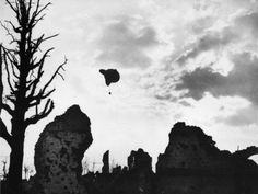 Observation Balloon over Ypres on the Western Front in Belgium During World War I in 1917