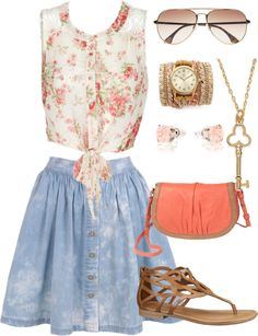 """""""Soft summer look ❤"""" by sarahnaomixo on Polyvore"""