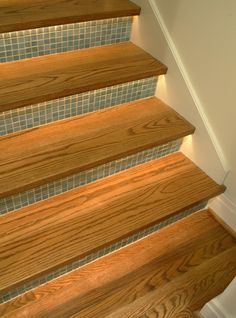 mosaic tile under stairs