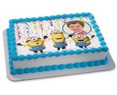 Minion birthday cake for Abbie
