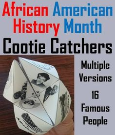 These cootie catchers/ fortune tellers are a great way for students to have fun while learning about the different historical figures involving black history. How to Play and Assembly Instructions are included.