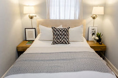 Small guest bedroom - Cozy Small Bedroom Tips 12 Ideas to Bring Comforts into Your Small Room Cozy Small Bedrooms, Small Bedroom Interior, Small Apartment Bedrooms, Small Guest Rooms, Small Master Bedroom, Small Bedroom Designs, Trendy Bedroom, Home Bedroom, Bedroom Decor