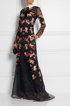 Erdem|Suri embroidered silk-organza gown|NET-A-PORTER.COM