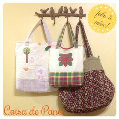 Bolsas de Pano. www.coisadepano.blogspot.com www.facebook.com/coisadepanobabi