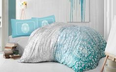 Holey Quilt obliečky Bavlna Deluxe  Chloe tyrkysová 140x200, 70x90cm Bean Bag Chair, Bed Pillows, Pillow Cases, Quilts, Bedroom, Furniture, Chloe, Home Decor, Bedding