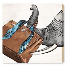 Oliver Gal Fashion Elephant Square Canvas Art - 22339_43X43_CANV_XXHD