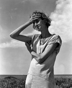"""Dorothea Lange Woman of the High Plains """"If You Die, You're Dead–That's All."""" Texas Panhandle, 1938"""
