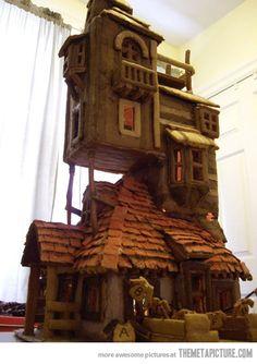 Weasley gingerbread house…impressive.