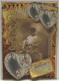 Another card made with materials from the CD 5000 Ephemera art pieces from Hot off the Press.
