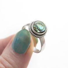 ➳ Abalone Shell 925 Ring ➳ boholake // mystic // rings // jewellery // jewelry // gemstone // sterling silver // boho // bohemian // jewels // hippie // gypsy www.boholake.co.uk