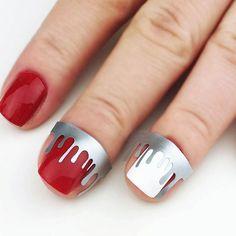 Drip Drops nail art vinyls incredible nail stencils by Unail Types Of Nail Polish, Types Of Nails, Nail Art Stencils, Drip Drop, Easy Nail Art, Drops Design, Vinyls, You Nailed It, Creativity