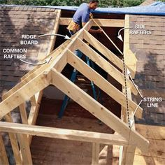 to Frame a Gabled Dormer Add dormers to the roof for light and extra space.Add dormers to the roof for light and extra space. Attic Rooms, Attic Spaces, Attic Playroom, Attic Bathroom, Attic Office, Attic Closet, Attic Renovation, Attic Remodel, Attic Conversion