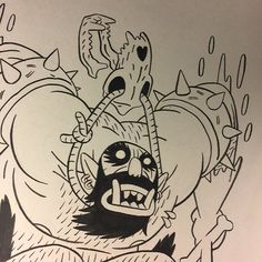 Some @wuvable_oaf inks for  Ed Luce! by andrewmaclean