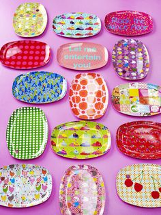 Melamine Plates from RICE - I love these to brighten up the dinner table!