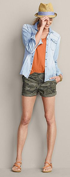 21 trendy beach camping outfits for women shops Camo Shorts Outfit, Camo Outfits, Short Outfits, Denim Shorts, Camping Outfits For Women, Summer Camping Outfits, Summer Outfits, Summer Dresses, Camo Fashion