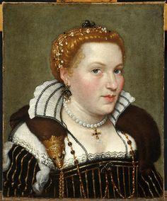 Lolmo Gian Paolo - Ritratto della contessa Isotta Brembati Grumelli - 1570-1575 - Accademia Carrara di Bergamo Pinacoteca