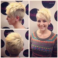 15 Very Cool Shaved Pixie Haircuts: #4. Short Shaved Pixie Cut