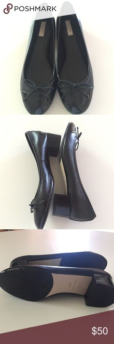 Cole Haan Sarina Pump. Leather/Patent Leather Cole Haan Beautiful low heel pump, worn two times in excellent condition.  No scuff marks. Very comfortable. Cole Haan Shoes Heels