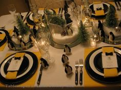 Winter tablescapes  - lots of great ideas!