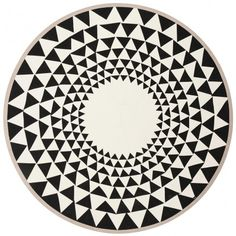 tapis rond triangle fermliving - Tapis Rond Color