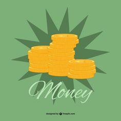 Vector gratuito de monedas de oro. Gratis para uso comercial con atribución. Money.