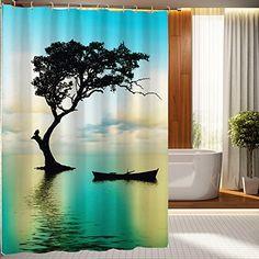 beddinginn 3d vivid waterfall pattern shower curtain beddinginn