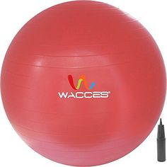 Wacces 65 Cm Professional Burst Resistand Stability And Body Ball (Red), 2015 Amazon Top Rated Exercise Balls & Accessories #Sports