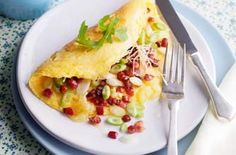 Spring onion and Pancetta omelette  Triple tested: You can't beat a tasty omelette for quick, filling comfort food, so say goodbye to ready-meals and go for eggs instead! Brought to you by Essentials magazine