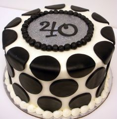 Modern Birthday Cake (Male) from The Cupcake Shoppe in Raleigh 80th Birthday Cake For Men, Modern Birthday Cakes, 40th Cake, Special Birthday Cakes, Birthday Cakes For Men, Birthday Ideas, Fondant Cakes, Cupcake Cakes, Cupcakes