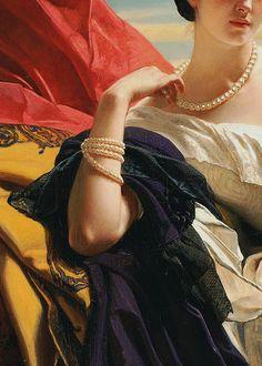 Franz Xaver Winterhalter, Princess Leonilla (detail), 1843 (x)