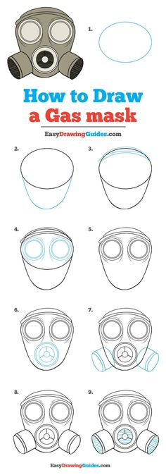 Learn How to Draw a Gas Mask: Easy Step-by-Step Drawing Tutorial for Kids and Beginners. #GasMask #DrawingTutorial #EasyDrawing See the full tutorial at https://easydrawingguides.com/how-to-draw-gas-mask/.