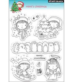 Penny Black Clear Stamps - Mimi's Christmas : stamps : stamping : scrapbooking :  Shop | Joann.com